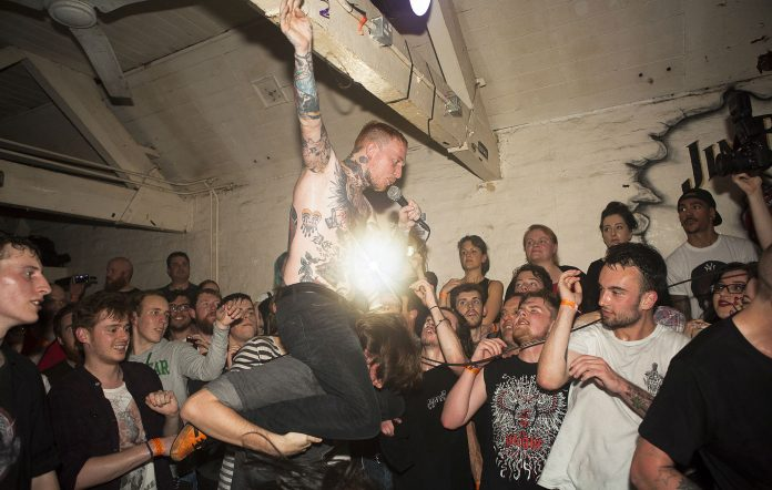 Frank Carter And The Rattlesnakes performs at The Fighting Cocks, Kingston Upon Thames on June 1, 2015 in London, United Kingdom (Photo by Marc Broussely/Redferns via Getty Images)