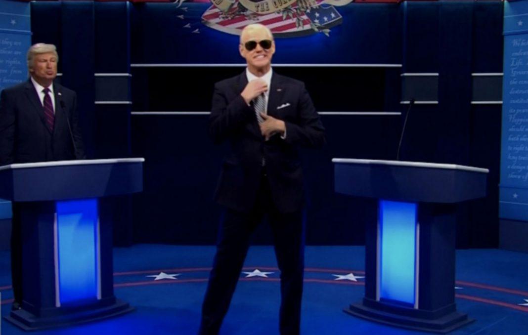 Jim Carrey as Joe Biden on SNL debate
