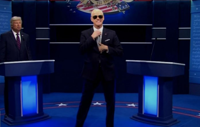 Jim Carrey as Joe Biden on SNL debate