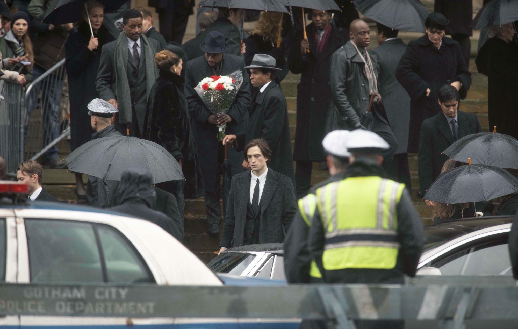 Robert Pattinson filming 'The Batman' in Liverpool