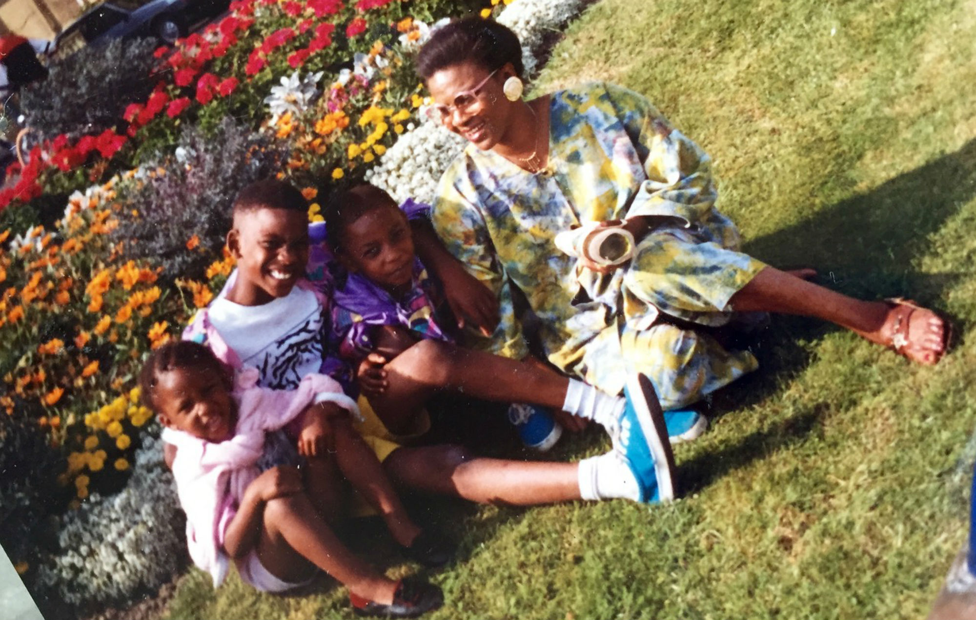 Ify Adenuga with Skepta, Julie and JME as children. Photo supplied