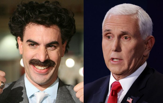 Borat and Mike Pence