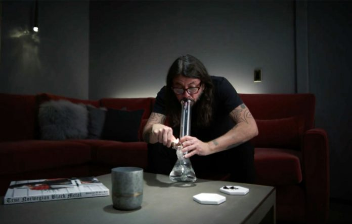 Dave Grohl spoofs his coffee addiction