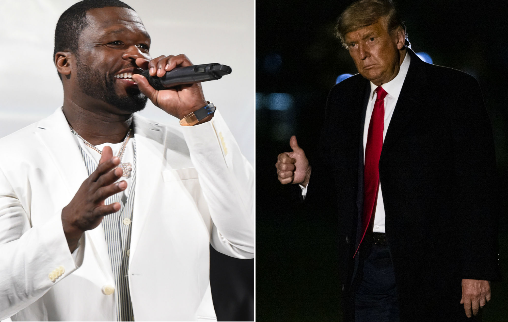 """Photo of 50 Cent confirms Trump support once again: """"I don't want to be 20 Cent"""""""