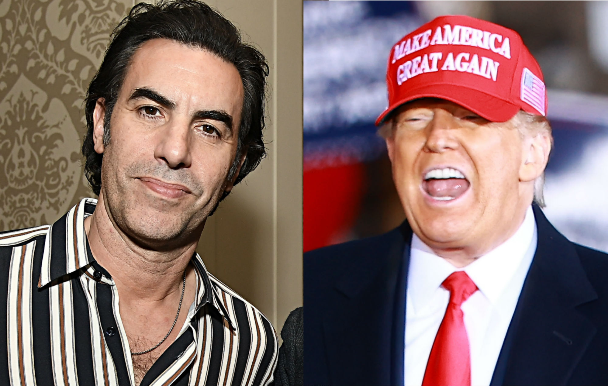 Sacha Baron Cohen and Donald Trump