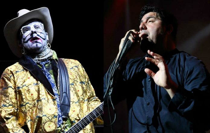 Limp Bizkit guitarist Wes Borland and Chino Moreno of Deftones