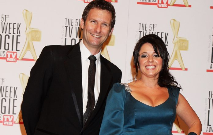 Adam Hills and Myf Warhurst