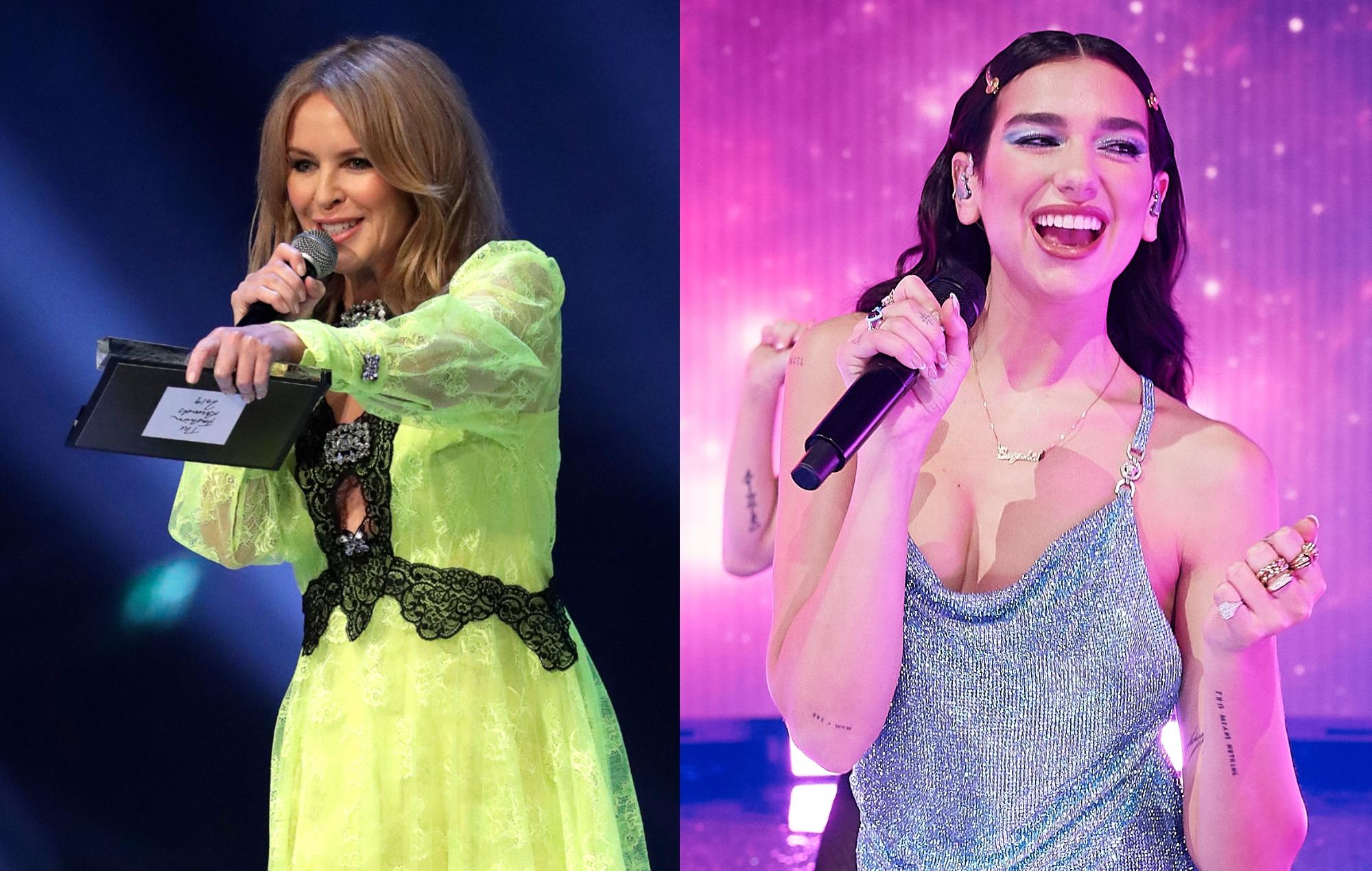 Kylie Minogue and Dua Lipa