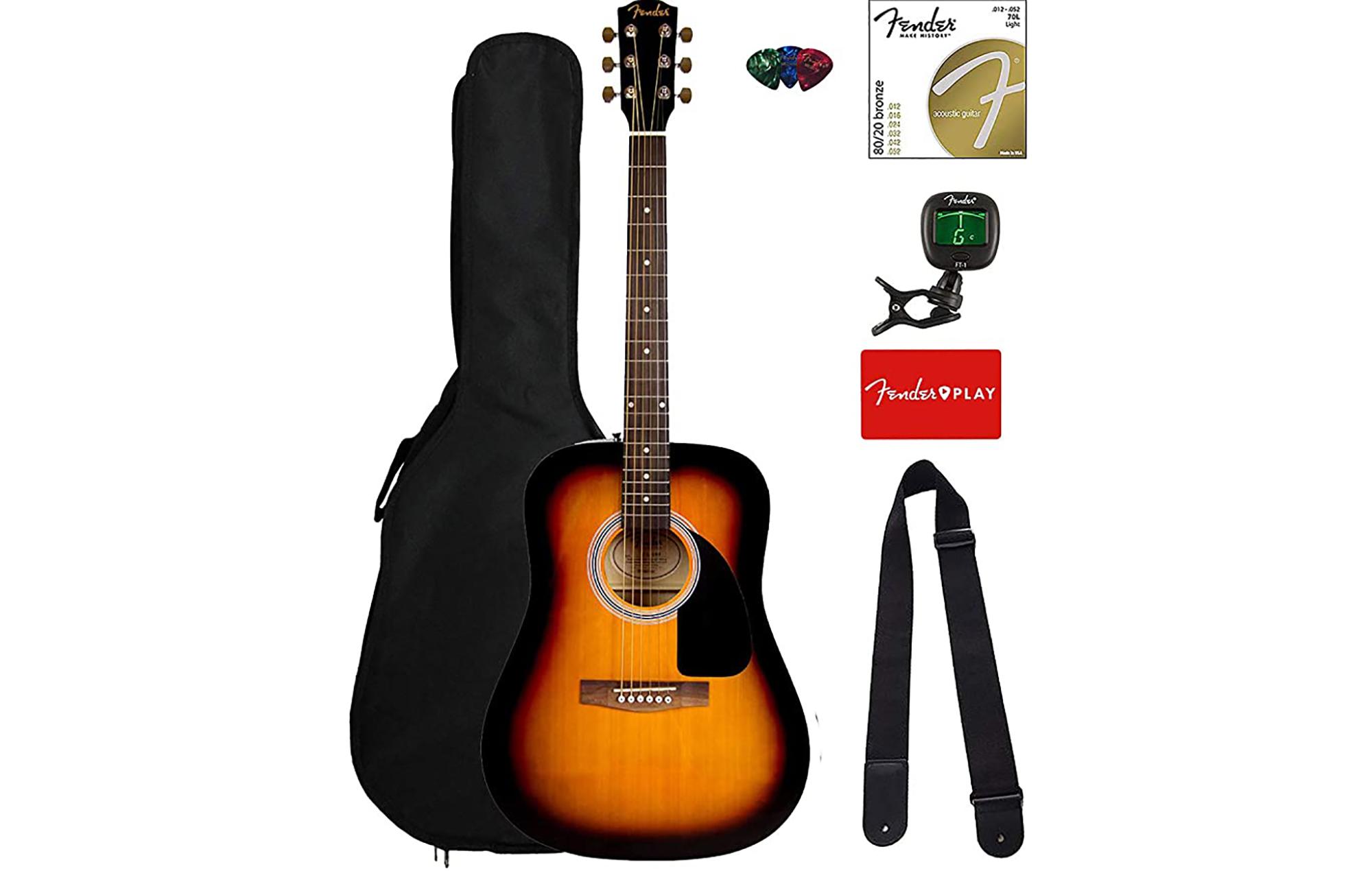 Fender Squier Dreadnought Acoustic Guitar Bundle