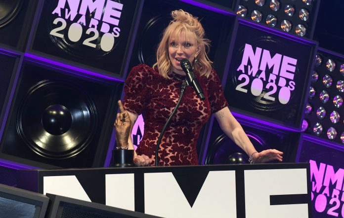Courtney Love attends The NME Awards 2020 at the O2 Academy Brixton on February 12, 2020 in London, England. (Photo by David M. Benett/Dave Benett/Getty Images)