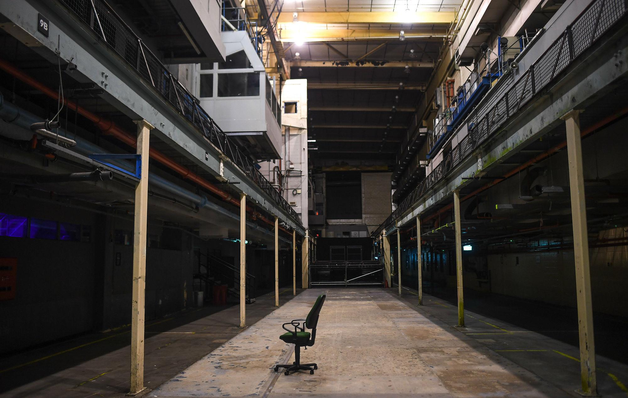 Las imprentas en Londres yacían vacías y bajo amenaza de cierre permanente (Foto de Peter Summers / Getty Images)