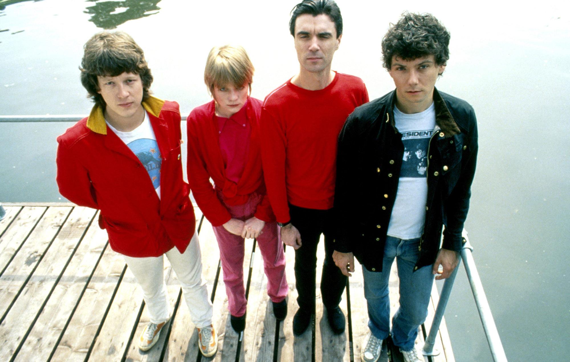 Chris Franz (far left) with Talking Heads in 1977(Photo by Gijsbert Hanekroot/Redferns)
