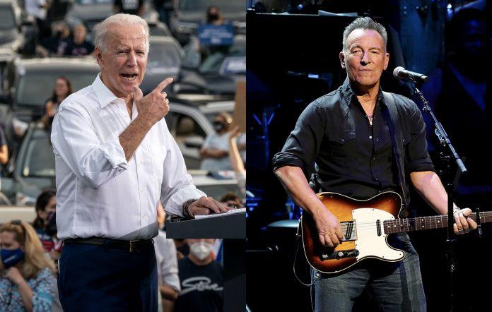 Joe Biden and Bruce Springsteen