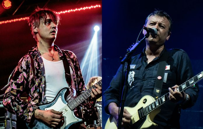Pete Doherty and James Dean Bradfield