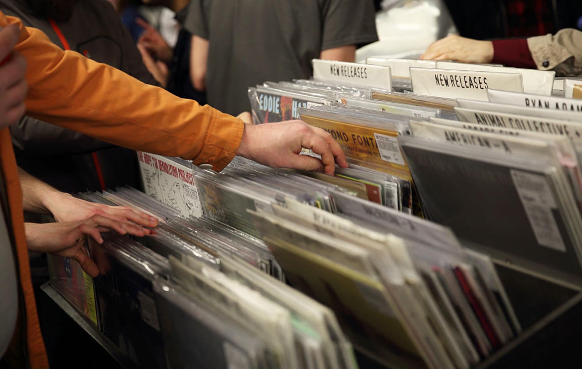 Vinyl sales - record store