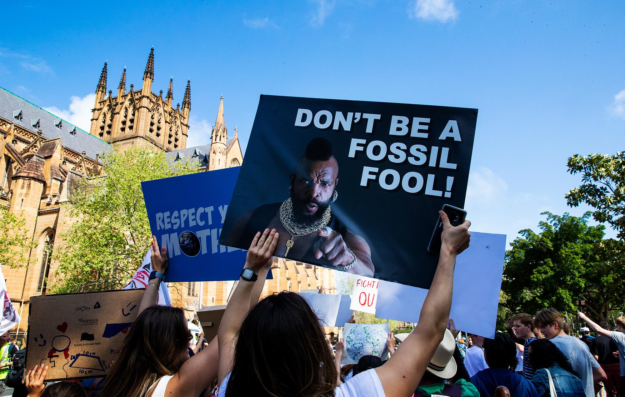 Climate strike rally Sydney 2019