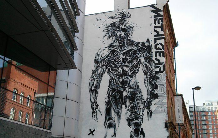 Metal Gear Rising: Revengeance giant mural england