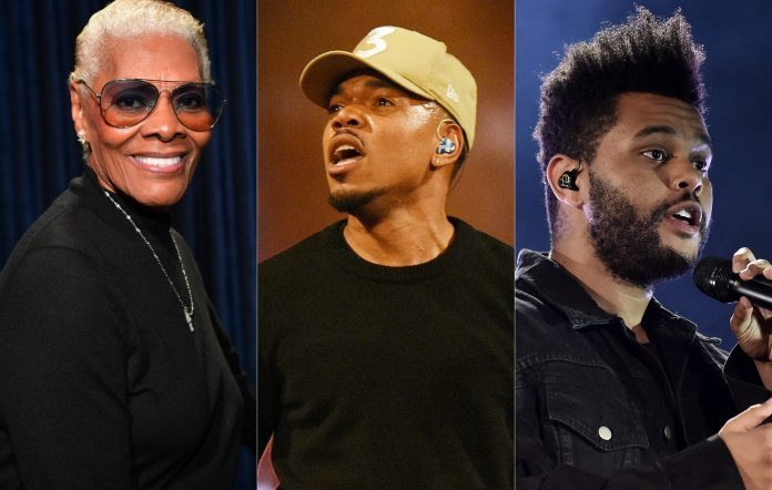 Dionne Warwick, Chance the Rapper, The Weeknd