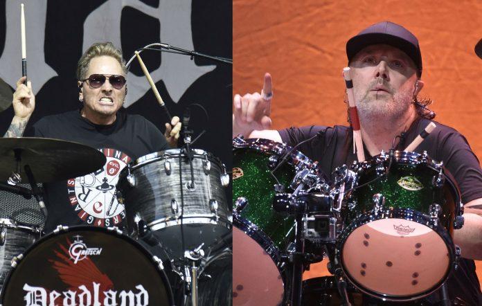 Former Guns N' Roses drummer Matt Sorum and Lars Ulrich