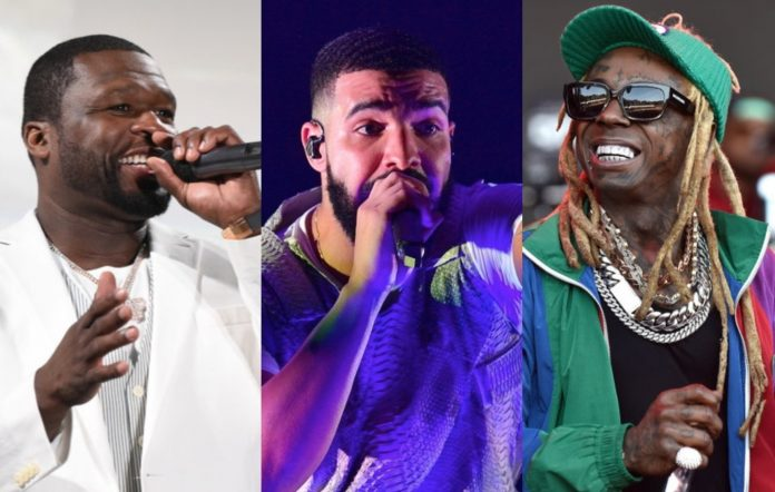 50 Cent, Drake and Lil Wayne