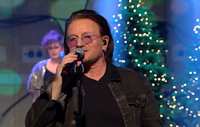 Bono performs Christmas (Baby Please Come Home)