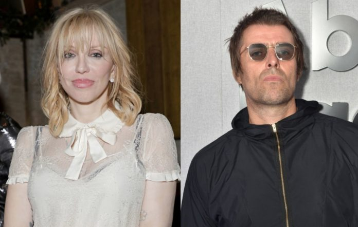 Courtney Love and Liam Gallagher