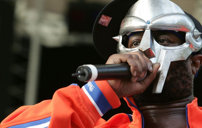 MF DOOM performs at a benefit concert for the Rhino Foundation at Central Park's Rumsey Playfield on June 28, 2005 in New York City. (Photo by Peter Kramer/Getty Images)
