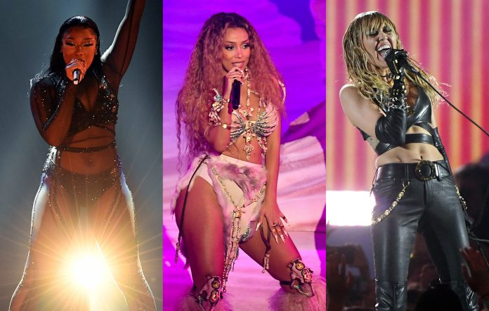 Megan Thee Stallion, Doja Cat and Miley Cyrus