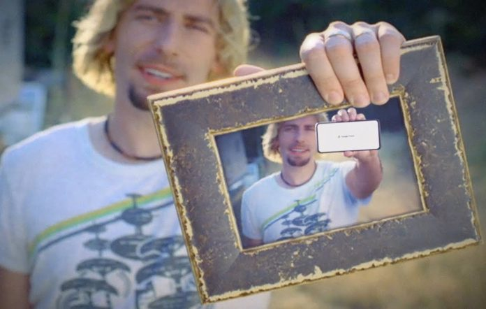 Still from Google's new Nickelback 'Photograph' ad
