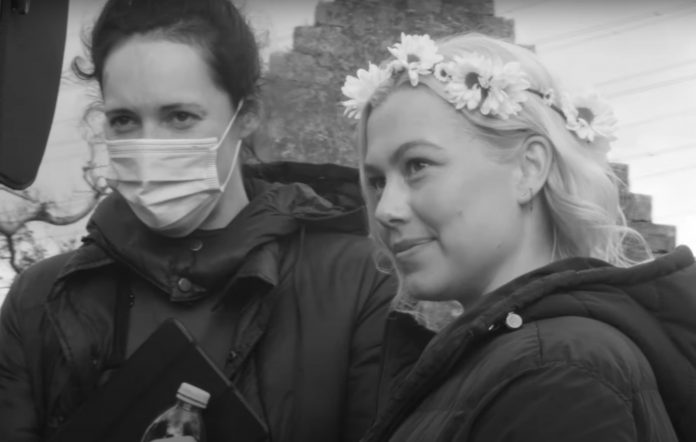 Phoebe Bridgers behind scenes video