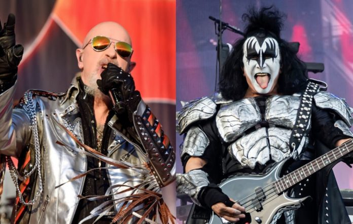 Rob Halford and Gene Simmons