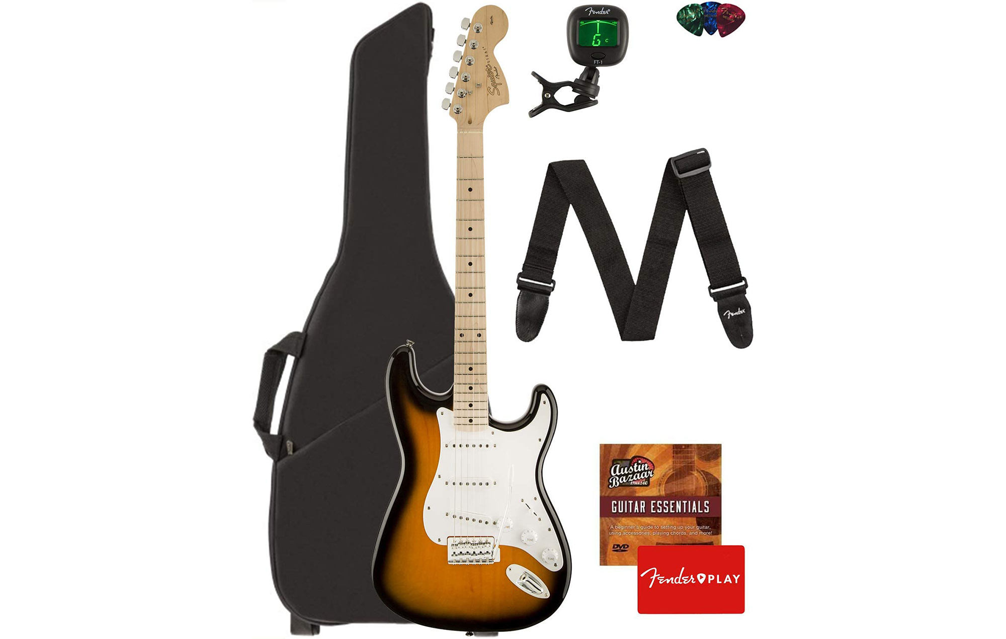 squier affinity stratocaster bundle