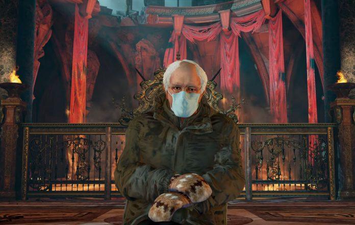 Bernie Sanders in Soulcalibur VI