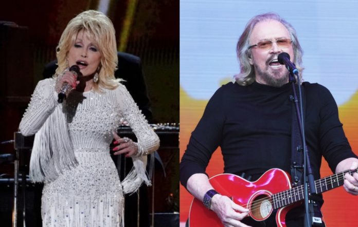 Dolly Parton and Barry Gibb