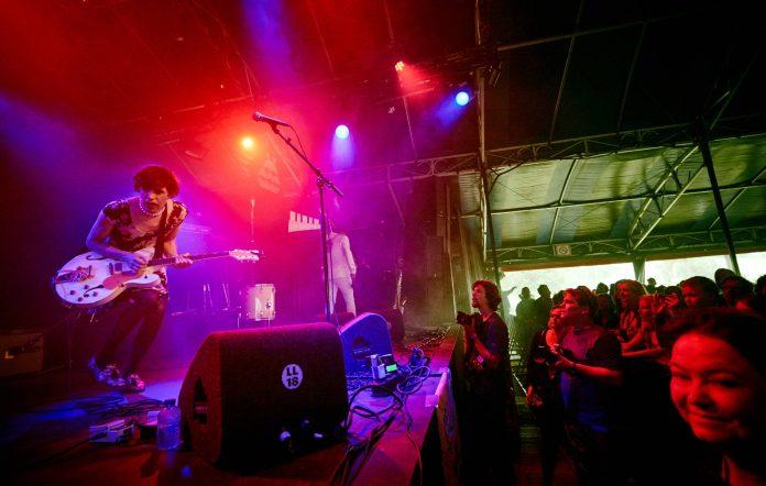 Ezra Furman performs live at Lowlands festival 2018 on August 19, 2018 in Biddinghuizen, Netherlands. (Photo by Gordon Stabbins/WireImage)
