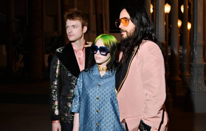 Finneas O'Connell, Billie Eilish and Jared Leto