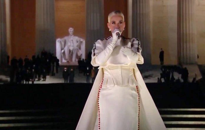 Katy Perry celebrating america