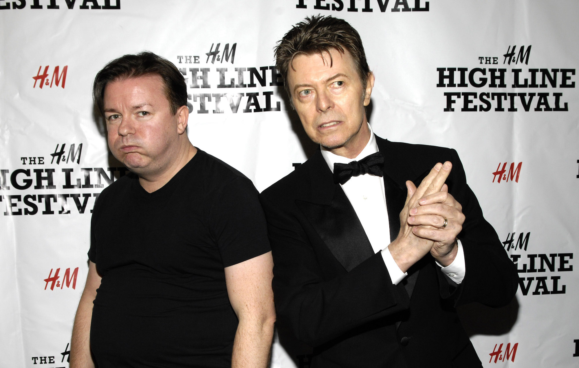 Ricky Gervais recalls the nerve-wracking time he first met David Bowie