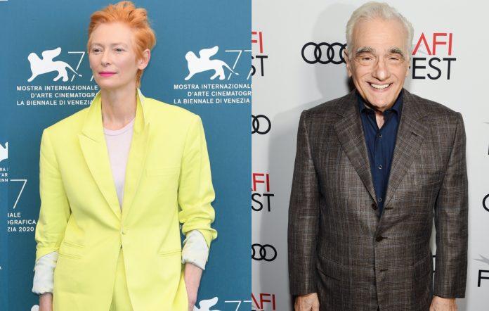 Tilda Swinton and Martin Scorsese