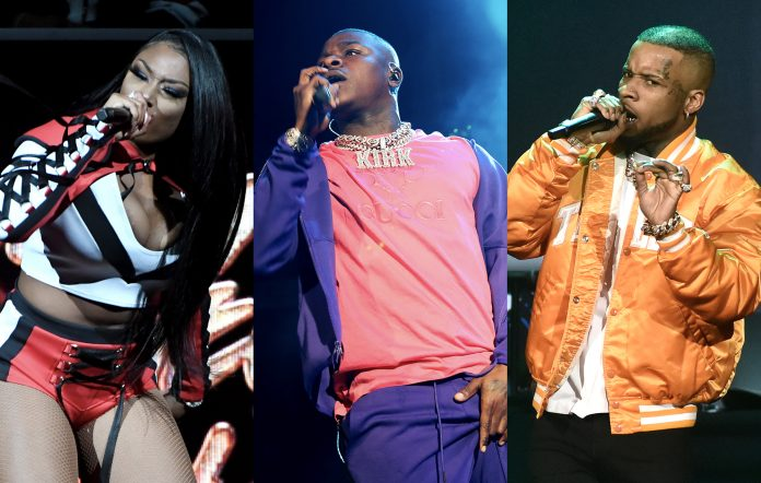 Megan Thee Stallion, DaBaby and Tory Lanez