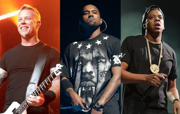 Metallica, Kanye West and Jay-Z