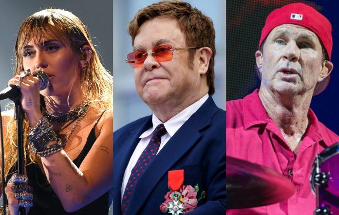Miley Cyrus Elton John Chad Smith