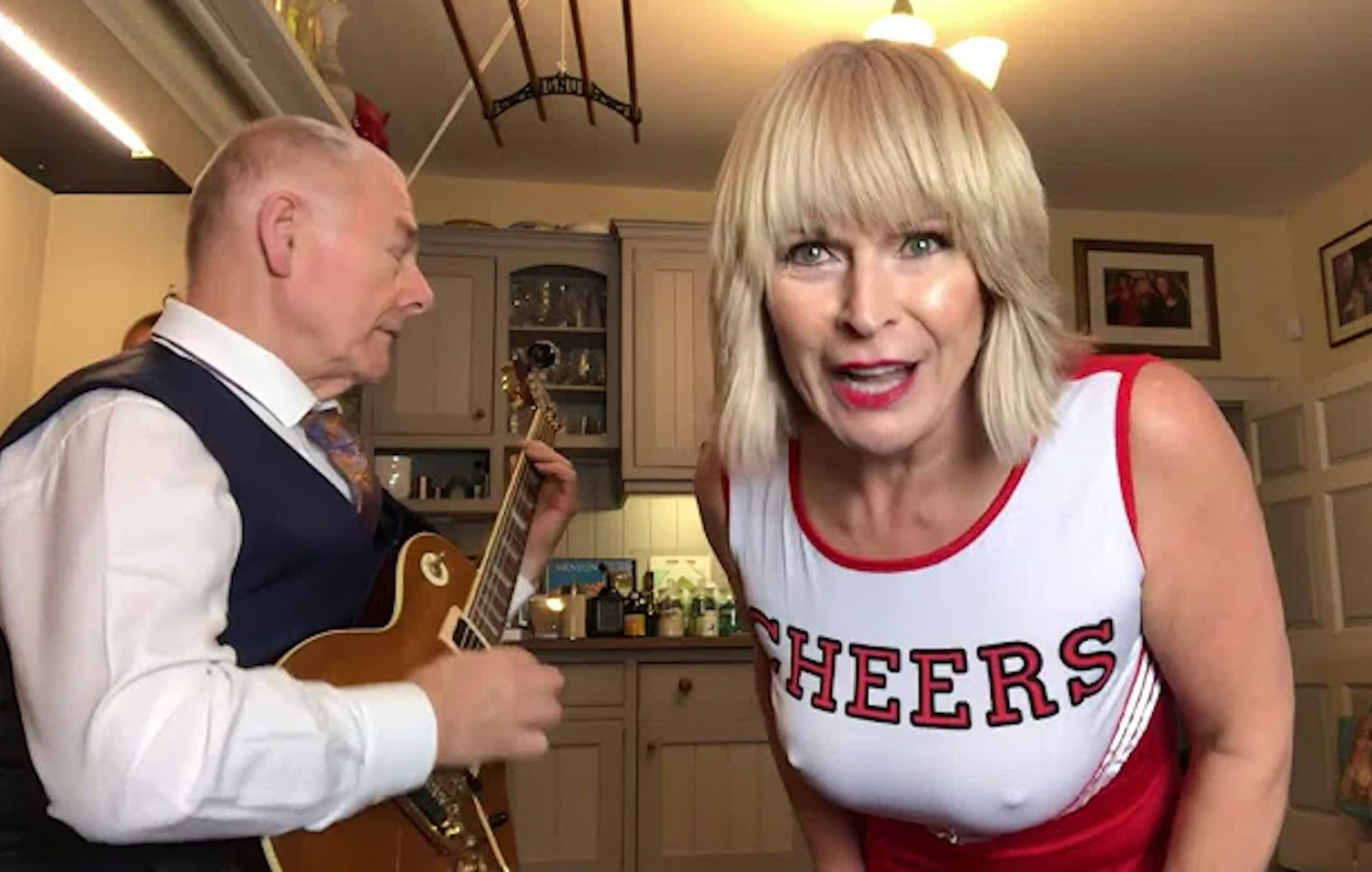 Robert Fripp and singer Toyah Wilcox share kitchen cover of Billy Idol's 'Rebel Yell'
