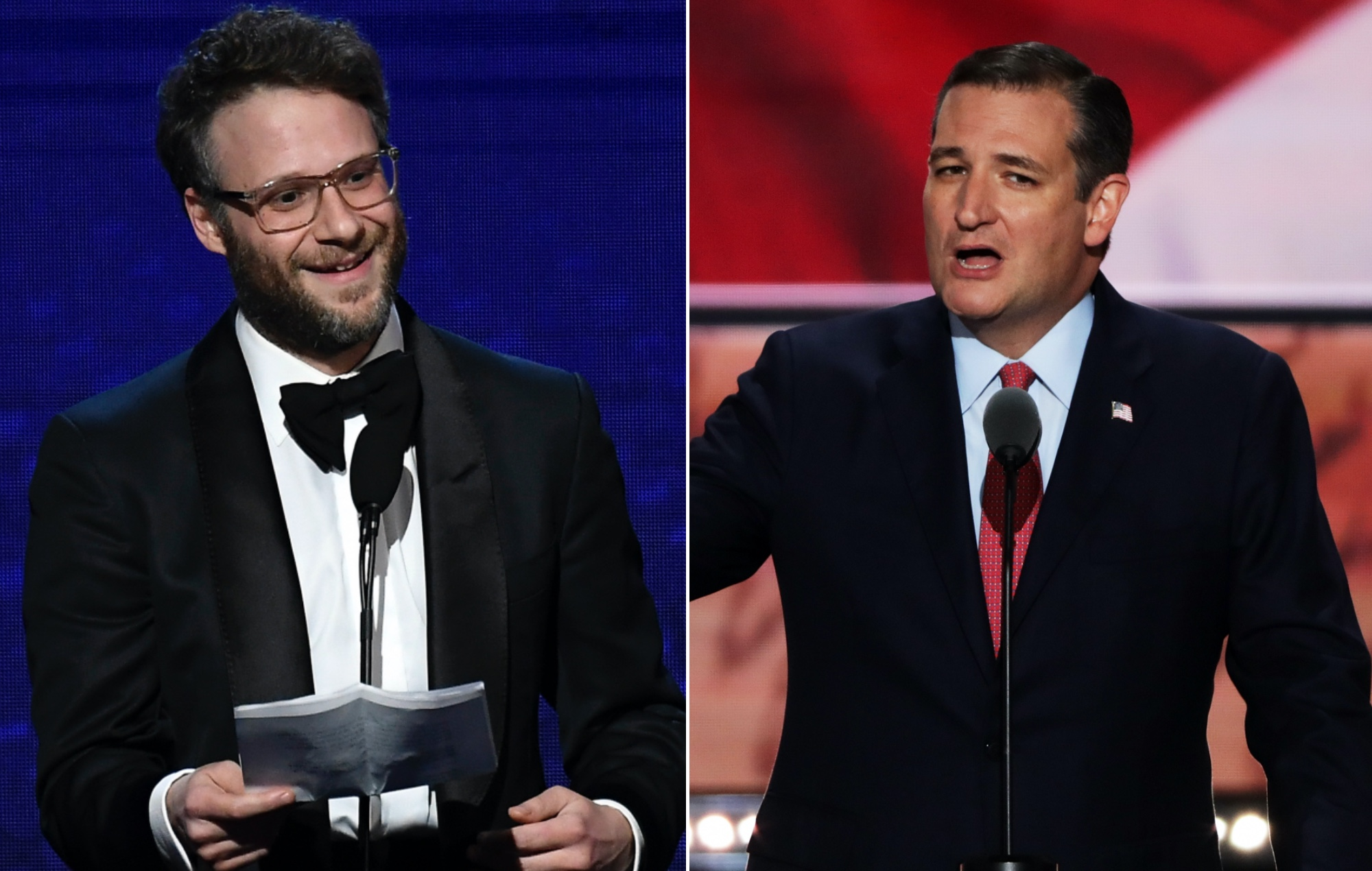 Seth Rogan and Ted Cruz