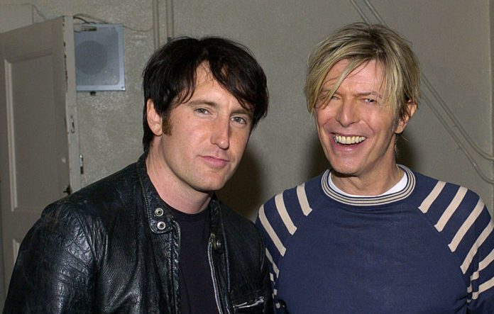 Trent Reznor and David Bowie