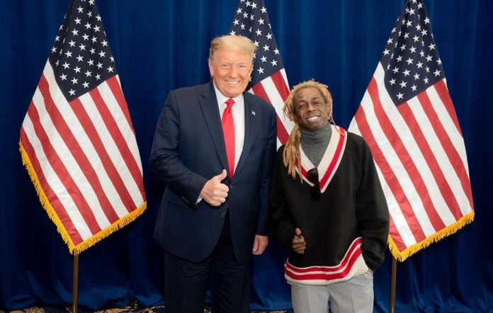 US President Donald Trump with Lil Wayne