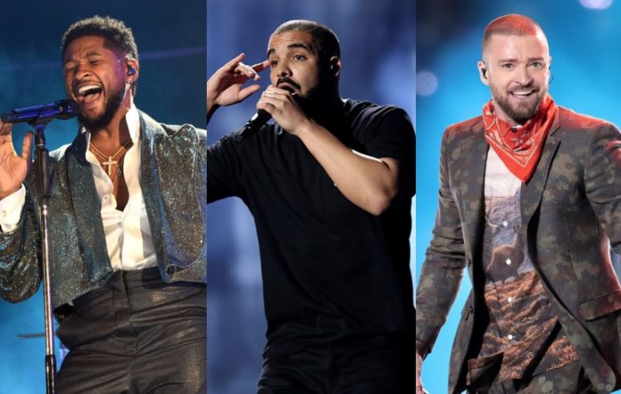 Usher, Drake and Justin Timberlake