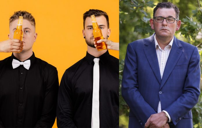 Mashd N Kutcher Victorian premier Dan Andrews Get On the Beers remix triple j Hottest 100 of 2020
