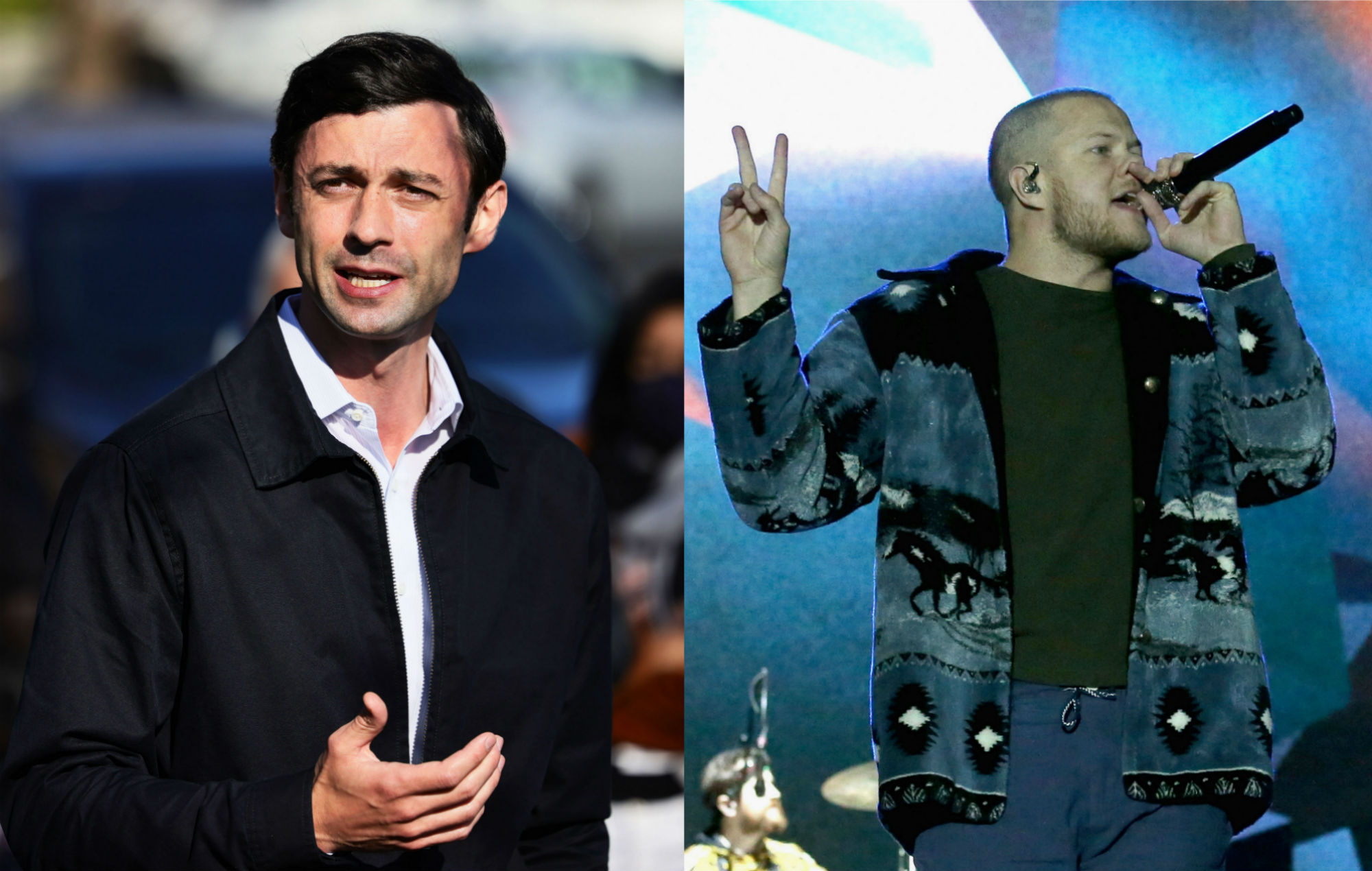 Twitter users have rediscovered Jon Ossoff's old tweet about Imagine Dragons