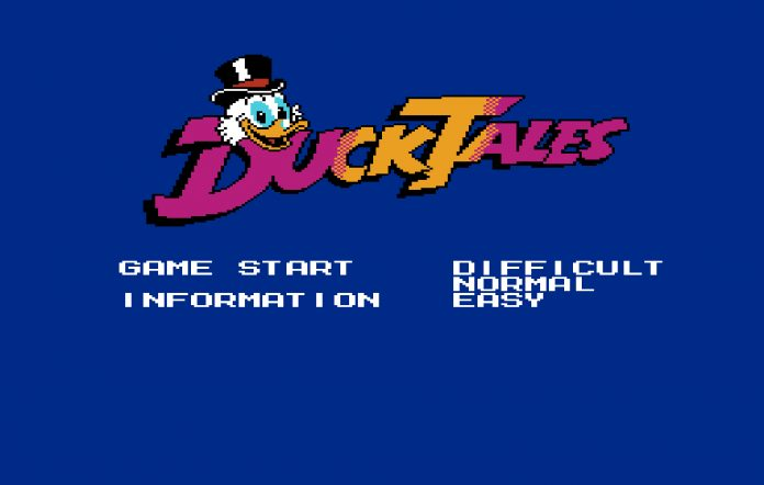 DuckTales early title screen. Image Credit: The Cutting Room Floor